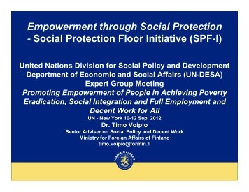 Social Protection Floor Initiative