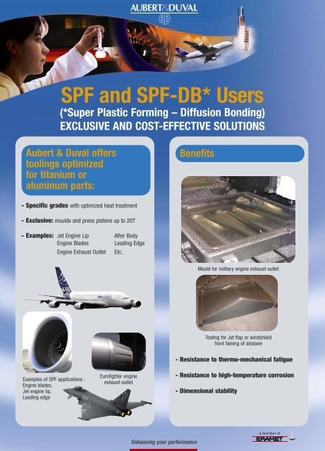 SPF and SPF-DB* Users - Aubert & Duval