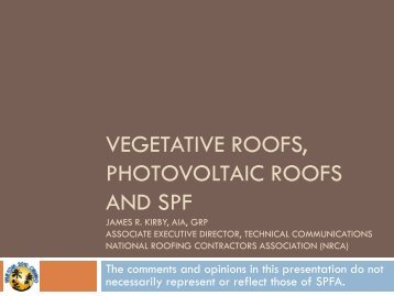 Vegetative Roof Systems and Rooftop Photovoltaic Systems - Spray ...