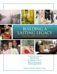 Building a lasting legacy - The Dupage Community Foundation