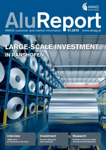 Download complete issue of the Alu Report 1 - Austria Metall AG