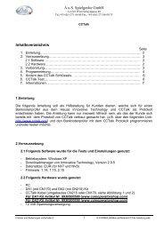 A.u.S. Spielgeräte GmbH Inhaltsverzeichnis