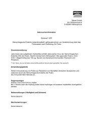 Merial GmbH Am Söldnermoos 6 D-85399 Hallbergmoos ...