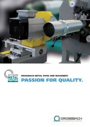 PASSION FOR QUALITY. - Drossbach GmbH & Co. KG