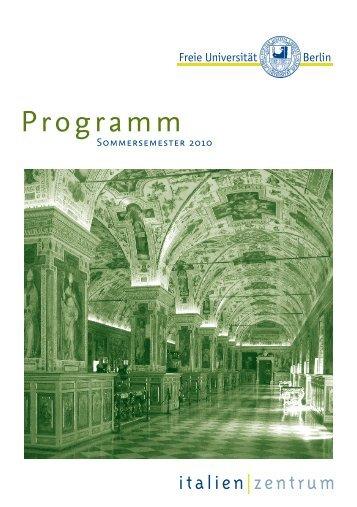 Programm - Fachbereich Philosophie und Geisteswissenschaften ...
