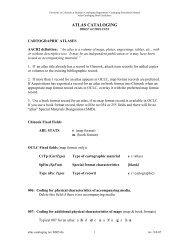 Atlas Cataloging Brief Guidelines - UCB Libraries