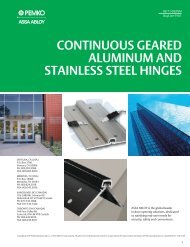 continuous geared aluminum and stainless steel hinges