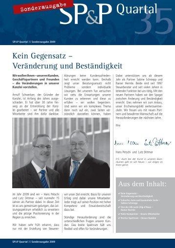 Quartal 2009 Sonderausgabe - Schweitzer, Petschi & Partner