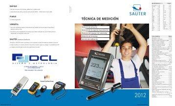 Catálogo Sauter - DCLmetrologia 2012 - Interempresas
