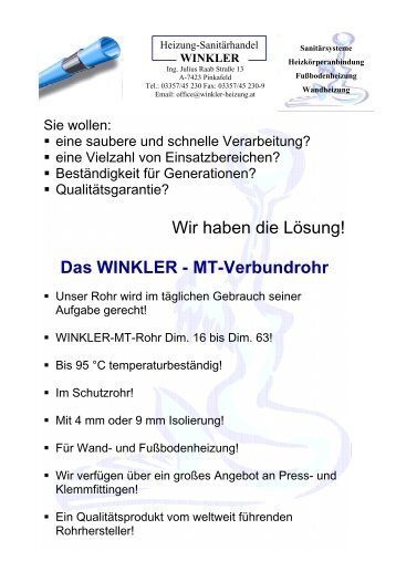 Sanitärhandel  09 - Werkzeug - Heizung-Sanitärhandel Winkler