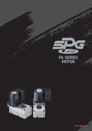 FA SERIES MOTOR - SPG Motoren
