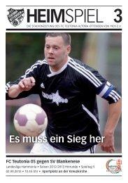 Heimspiel 3: T05 - SV Blankenese - FC Teutonia 05 eV