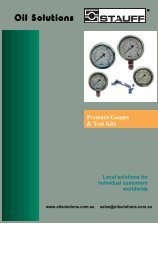 Pressure Gauges & Test Kits - Oil Solutions