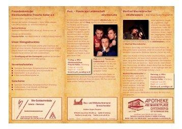 Freundeskreis der Kleinkunstbühne Fresche Keller e.V. Unser ...