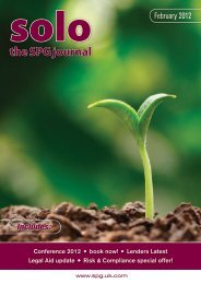 the SPG journal - The Sole Practitioners Group - UK.COM