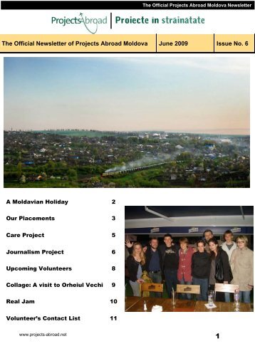 The Official Newsletter of Projects Abroad Moldova