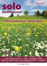 SPG Conference - The Sole Practitioners Group - UK.COM