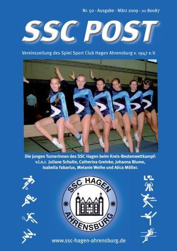 SSC-POST 2009-1:SSC-POST 2009-1 - Spiel Sport Club Hagen ...
