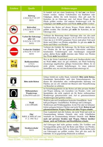 Taschenkarte Reitrecht NRW - VFD