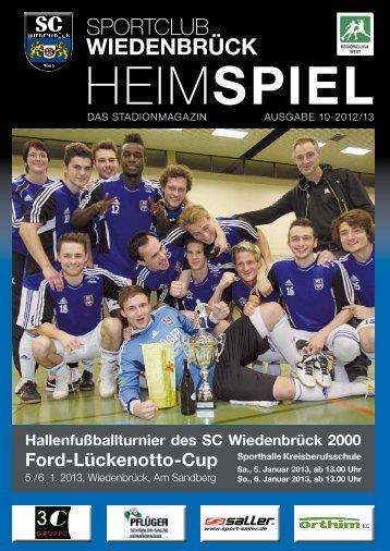 Heimspiel 10 Januar 13 L-Cup Teil1 - SC Wiedenbrück 2000