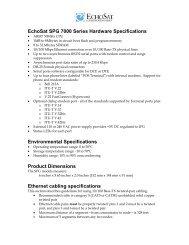 EchoSat SPG 7000 Series Hardware Specifications