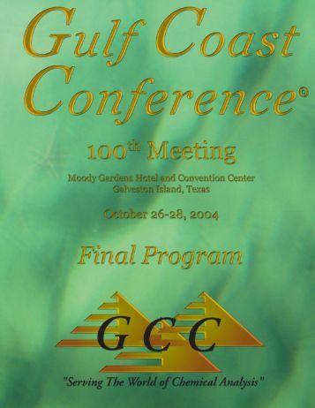 2004 Program Version 2.pmd - Gulf Coast Conference