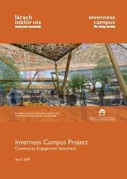 Community Engagement Statement April 2009 - Inverness Campus