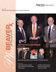 Spg newsletter 05 final - College of Pharmacy - Oregon State ...