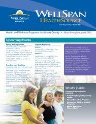 Health and Wellness Programs for Adams County ... - WellSpan Health