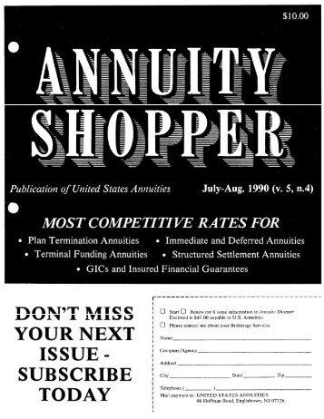 Jul. 1990 - Annuity Shopper Magazine