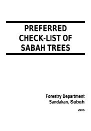 PREFERRED CHECK-LIST OF SABAH TREES Forestry Department ...