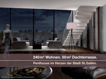 240m2 Wohnen. 50m2 Dachterrasse. - Hugo Steiner-Haus