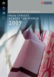 main streets across the world 2009