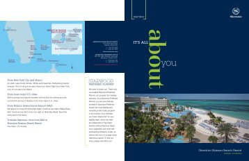 PRefeRRed PlaNNeR - Starwood Hotels & Resorts