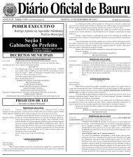 Edição 2185 - Prefeitura Municipal de Bauru - Governo do Estado ...