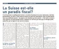 La Suisse est-elle un paradis fiscal? - Immorama