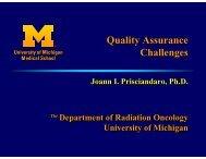 Quality Assurance Challenges, Joann Prisciandaro ... - AAPM Chapter