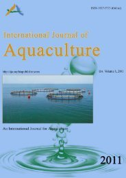International Journal of Aquaculture (online), - Sophia Publishing ...
