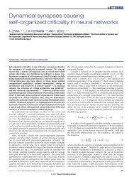 Dynamical synapses causing self-organized criticality in neural ...