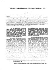 land development and the endangered species act - Horizon ...