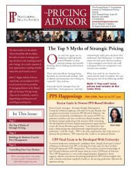 PRICING ADVISOR - Professional Pricing Society
