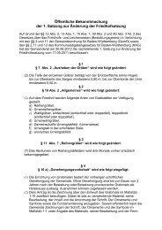 Öffentliche Bekanntmachung der 1. Satzung zur ... - Freudental