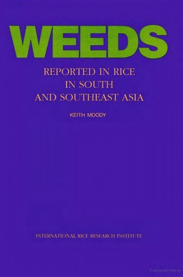Weeds reported in rice in south and southeast Asia