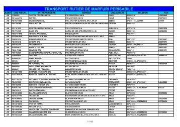 Informatii privind operatorii de transport rutier de marfuri