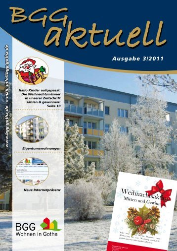 BGG-aktuell, Ausgabe 3 - 2011 - Baugesellschaft Gotha