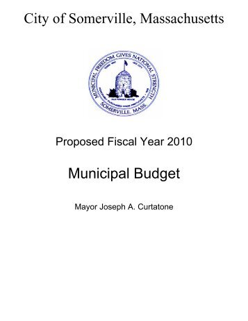 City of Somerville, Massachusetts Municipal Budget
