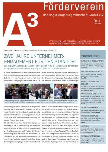 Newsletter 2011 - im Wirtschaftsraum Augsburg.