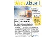 Die Kundenzeitschrift der Aktiv AG