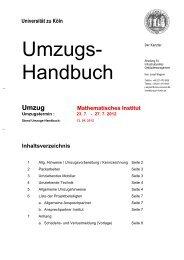 Briefbogen Verwaltung ohne Zeiten - Verwaltung - Universität zu Köln