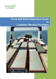 Food and Drink Exporters Guide to Logistics Service ... - Bord Bia